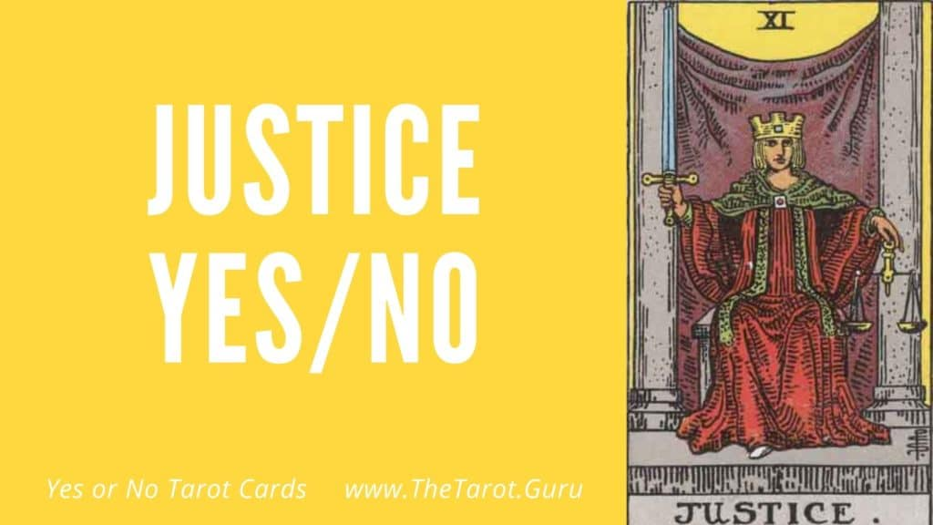 Justice Yes or No Tarot