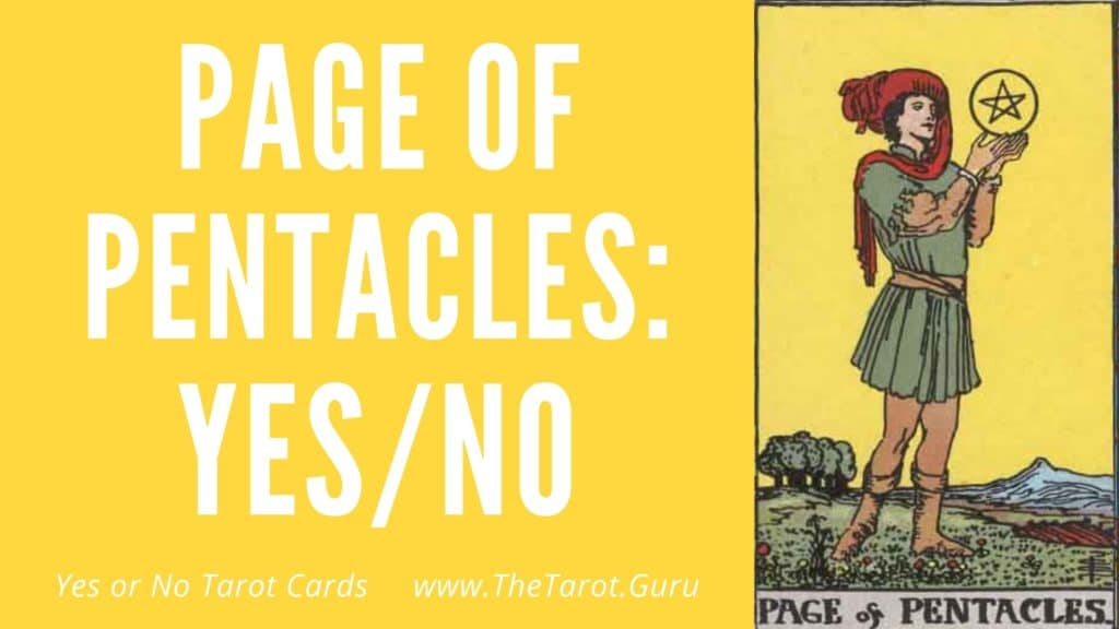 Page of Pentacles Yes or No Tarot