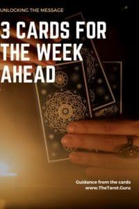 3 Card Weekly Tarot Spread