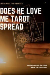 does he love me tarot spread