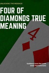 four of diamonds cartomancy meaning